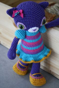 CROCHET - FREE - CAT - lovely #amigurumi #cat - great colors