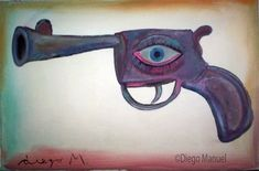 arma mortal 4. Painting of the Serie Surrealism for sale by artist Diego Manuel