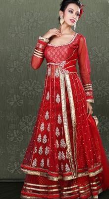 Adorable Crimson Lehenga Choli