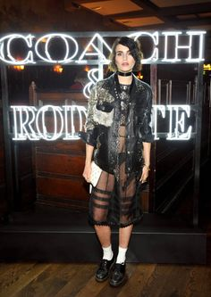 Illustrator Langley Fox attends the Coach Rodarte celebration for their Spring 2017 Collaboration at Musso Frank on March 30 2017 in Hollywood...