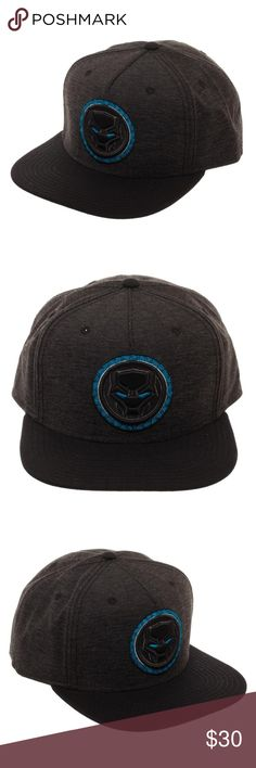 Black Panther Snapback Hat - Marvel Comics Movie This very nice hat is officially licensed from Bioworld.  It features the Black Panther logo front and center.  Adult, Size Adjustable.  Officially Licensed, made by Bioworld.   Style: Snapback Hat  Size:  Adjustable - One Size Fits Most Brand: Bioworld  CONDITION - New  Check my Posh for more Black Panther items! Bioworld Accessories Hats