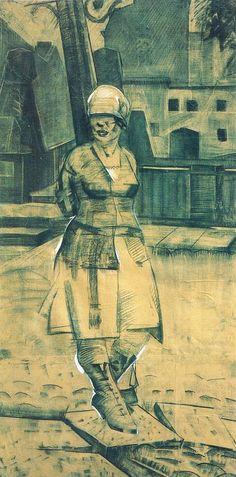 Дитя улицы. 1923 ( trad. Google :Enfant de la rue. 1923)  -  Israel Lissak (1905-1974)