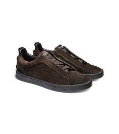 Ermenegildo Zegna Couture Suede Slip-On Sneaker