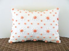 MANGO POPS chenille cushion cover 12 X 16 by moreChenilleChateau