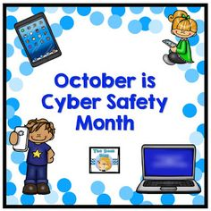 The Book Bug: October is Cyber Safety Month Teaching Technology, Teaching Biology, Educational Technology, Elementary School Library, Elementary Schools, Safety Games, Library Activities, Stem Activities, Book Tasting