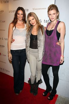 AnnaLynne McCord with Sloane & Tate models Theresa Martin and Angel McCord at the Sloane & Tate Launch Party at Siren Studios in Hollywood