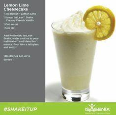Lemon lime cheesecake shake