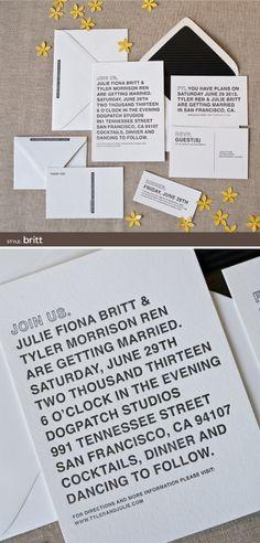 letterpress wedding invitations by Alee & Press: britt