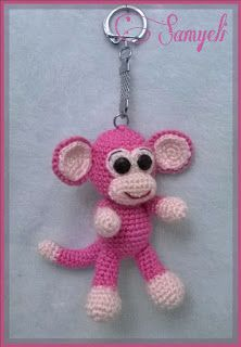 Simon of weaves: Monkey keychain