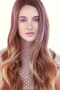 Shailene Woodley hair. Long, just a couple layers really close to the bottom
