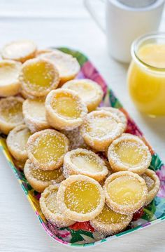 Lemon bars in an easy to serve cookie cup.