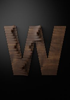 Nike Typography with wooden slats- W for @winter wishes wishes wishes Daly