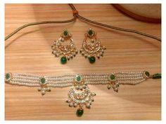 Jewelry Design Earrings, Gold Jewellery Design, Beaded Jewelry, Bridal Jewellery, Necklace Designs, Real Gold Jewelry, Indian Jewelry, Stylish Jewelry, Fashion Jewelry