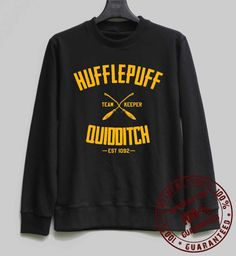 Hufflepuff Quidditch Shirt Harry Potter Sweatshirt Sweater Hoodie Shirt – Size XS S M L XL