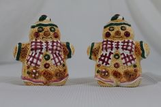Vintage Ceramic Holiday Gingerbread Man Salt and Pepper Shakers S&P Set | Collectibles, Decorative Collectibles, Salt & Pepper Shakers | eBay!