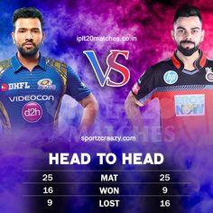 Head To Head Mi Vs Rcb Who Will Win Rohit Vs Virat Ipl Royal Challengers Bangalore Cricket Quotes