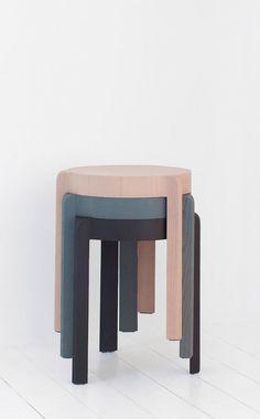 Add is a minimalist stool created by Munich-based designer Steffen Kehrle. Portable Stool, Coffee Gallery, Diy Furniture, Furniture Design, Stackable Stools, Kouign, Outdoor Stools, Wooden Stools, Minimalist Furniture