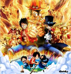 Luffy, Ace, and Sabo   _One Piece