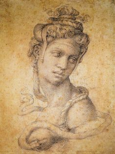 Michelangelo - Cleopatra, 1534 at Uffizi Galleries Florence Italy