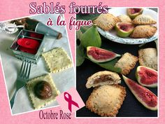 Sablés fourrés à la figue (du jardin) - Recette pour Octobre Rose - Sensibilisation au dépistage du cancer du