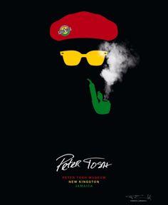 Winning poster for Peter Tosh Museum Rastafari Art, Eid Poetry, Bob Marley Art, Rasta Art, Peter Tosh, Dancehall, Reggae Artists, The Wailers, Music Artwork