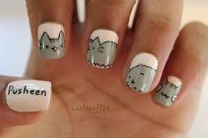 MEOW! 40 Kitty Cat Nail Designs - Meow Kitty - 1