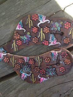Desert bloom vintage straps Horse Gear, My Horse, Horse Tack, Spur Straps, Barrel Racing Horses, Western Tack, Headstall, All The Pretty Horses, Leather Tooling
