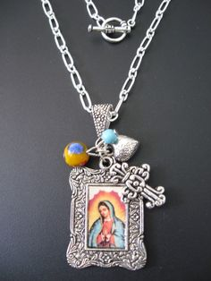 Our Lady of Guadalupe Necklace Jewelry by jewelryrow on Etsy, $22.95