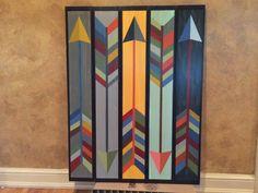 Painted Arrow barn quilt