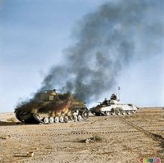 Got the blighter - British Cruiser tank passes the wreckage of a Panzer III. Unfortunatley the British Tanks at this stage of the war were no match the Panzer III. Crusader Tank, Afrika Corps, North African Campaign, Ww2 Photos, History Online, Ww2 Tanks, War Photography, Battle Of Britain, Warriors