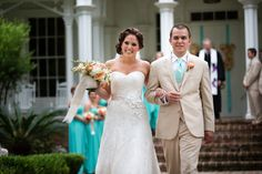 A Pink and Teal Wedding at Rose Hill Mansion in Bluffton, South Carolina