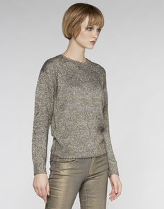 Gunner Metallic Sweater - Knitwear - Sweater - Storm