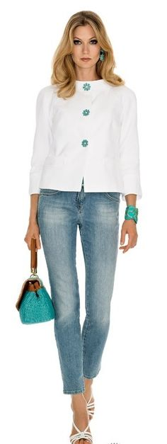 Luisa Spagnoli Online Shop: online sale of Luisa Spagnoli women's clothing, bags and accessories. Check out the Luisa Spagnoli women's fashion collection! Denim Fashion, Fashion Outfits, Womens Fashion, Fashion Trends, Mature Fashion, Daily Fashion, Cool Outfits, Casual Outfits, Denim Outfit