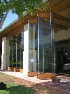 Stone Pine Stack Away Doors Open Forest Creations, Timber frameless stack doors