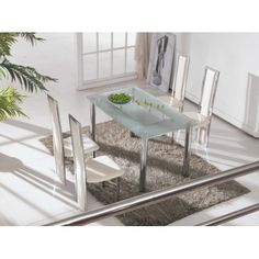 79b46b65294 Glass Dining Table and 4 Chairs Sets UK