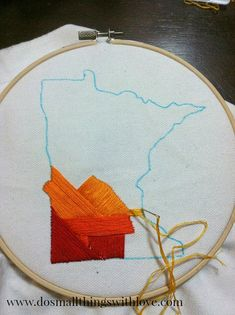 State Love: Beginner's Embroidery Project