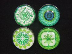 Noosa Chunks Green Geometric Series for Noosa Style Jewellery Jewelry, Bracelets, Rings and Pendants.