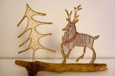 Le cerf majestueux - figurine en ficelle et papier