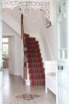 Roger Oates runners, available from Michael John Flooring. Carpet Stairs, Carpet Flooring, Bedroom Wardrobe, Leicester, Lounge, Rugs, Wood, Hallway Ideas, Wardrobes