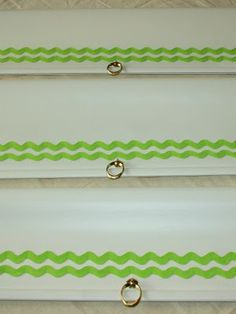 Dress up blinds with ric rack or decorative ribbon.