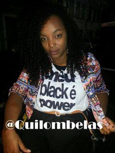 Blusa Meu Black é Power de Quilombelas