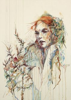 Carne Griffiths is a Liverpool based artist creating some truly elegant and awe inspiring drawings. Along with the usual inks that artists work with, Griffiths also employs the use of tea and alcohols Drawing Sketches, Drawings, Ap Drawing, Drawing Ideas, Abstract Portrait, Abstract Art, Figurative Art, Unique Art, Fantasy Art