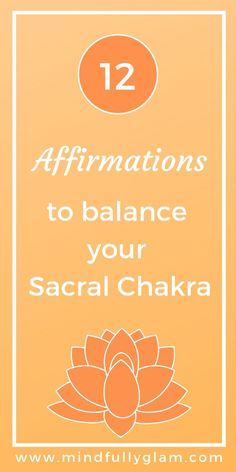 Is Your Sacral Chakra Blocked! A Beginner's Guide to Balancing your Sacral Chakra! How to Balance Your Sacral Chakra with Affirmations for Beginners - Sacral Chakra Healing Chakra Affirmations, Positive Affirmations, Positive Quotes, Positive Life, Sacral Chakra Healing, Chakra Meditation, Reiki Training, Learn Reiki, Reiki Practitioner