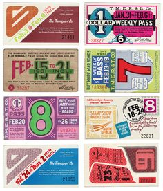 Old bus tickets from Milwaukee.  they sure don't make 'em like they used to.