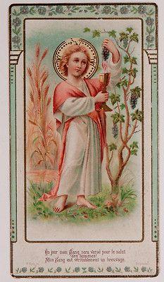 Antique Holy Card Christ Card