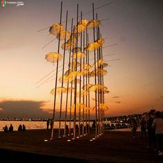 Απόγευμα στις Ομπρέλες της Νέας Παραλίας. Thessaloniki, Wind Turbine, Places, Twitter, Photos, Pictures, Lugares