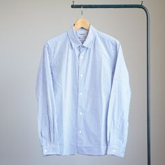 Comfort Shirt - narrow #blue stripe