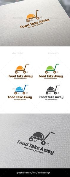 Food Take Away - Logo Design Template Vector #logotype Download it here: http://graphicriver.net/item/food-take-away-logo/9945456?s_rank=1619?ref=nexion