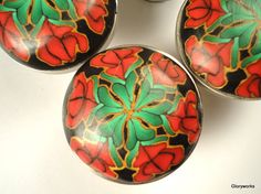 Polymer clay knobs are bright and interesting!