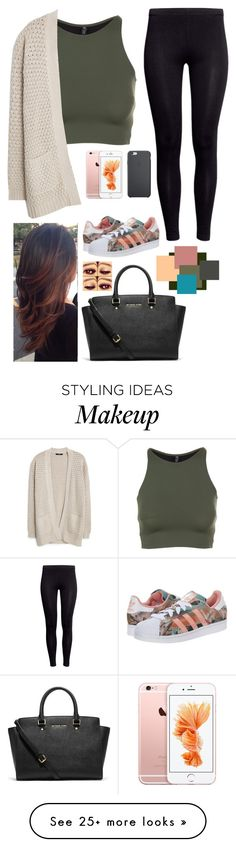 """""""those who are heartless, once cared too much"""" by jilian-wubs-u on Polyvore featuring Onzie, MANGO, H&M, adidas Originals, MICHAEL Michael Kors and Black Apple"""